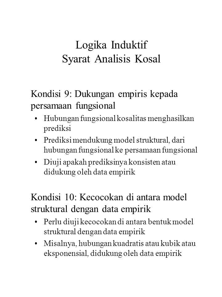 Logika Induktif Syarat Analisis Kosal