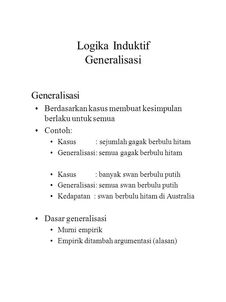 Logika Induktif Generalisasi