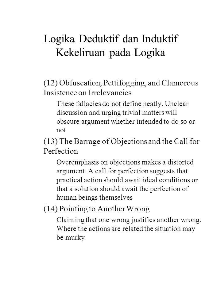 Logika Deduktif dan Induktif Kekeliruan pada Logika