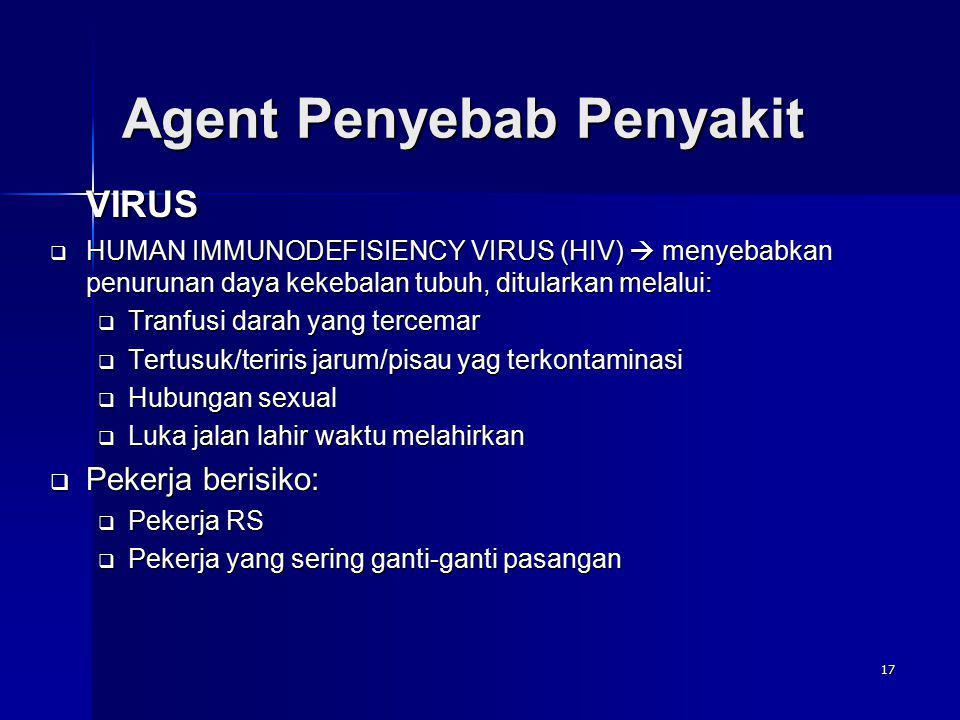 Agent Penyebab Penyakit