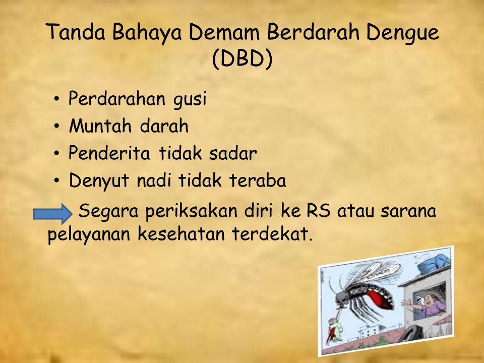Tanda Bahaya Demam Berdarah Dengue (DBD)