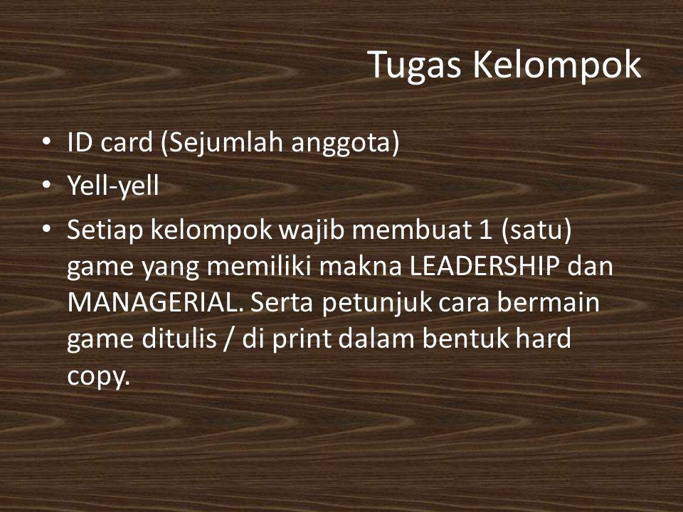Tugas Kelompok ID card (Sejumlah anggota) Yell-yell
