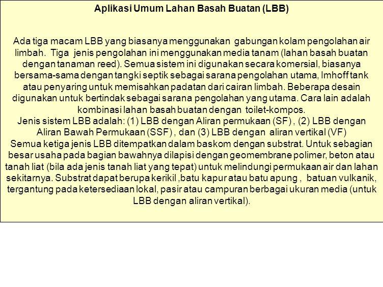 Aplikasi Umum Lahan Basah Buatan (LBB)