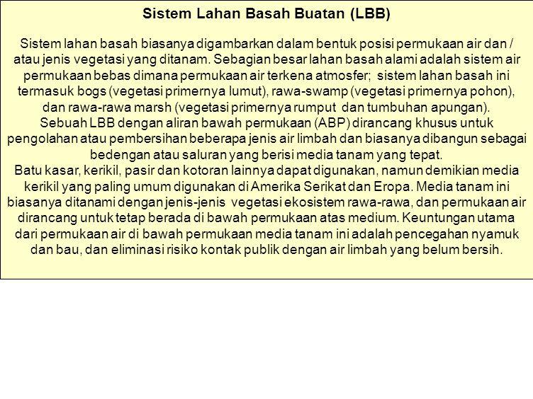 Sistem Lahan Basah Buatan (LBB)