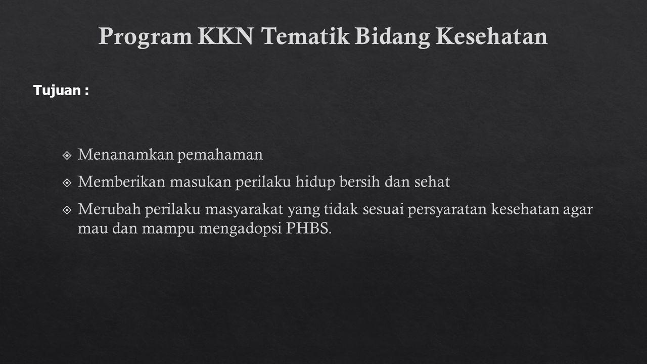 Program KKN Tematik Bidang Kesehatan