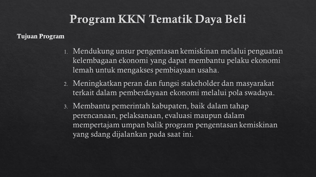 Program KKN Tematik Daya Beli