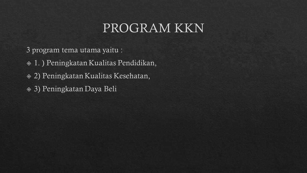 PROGRAM KKN 3 program tema utama yaitu :