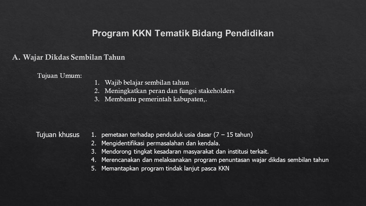 Program KKN Tematik Bidang Pendidikan