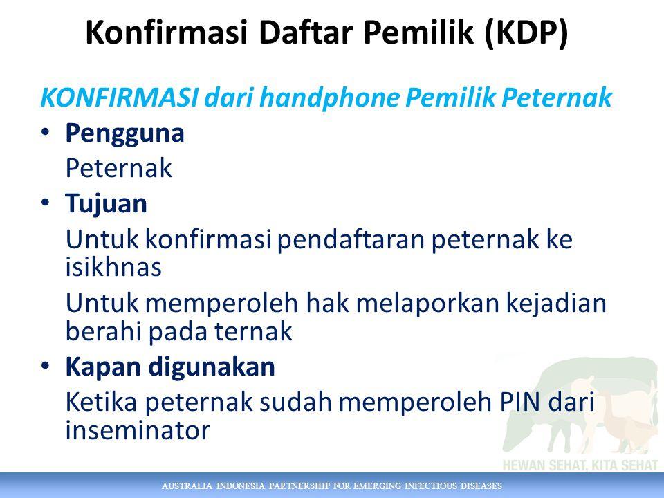 Konfirmasi Daftar Pemilik (KDP)