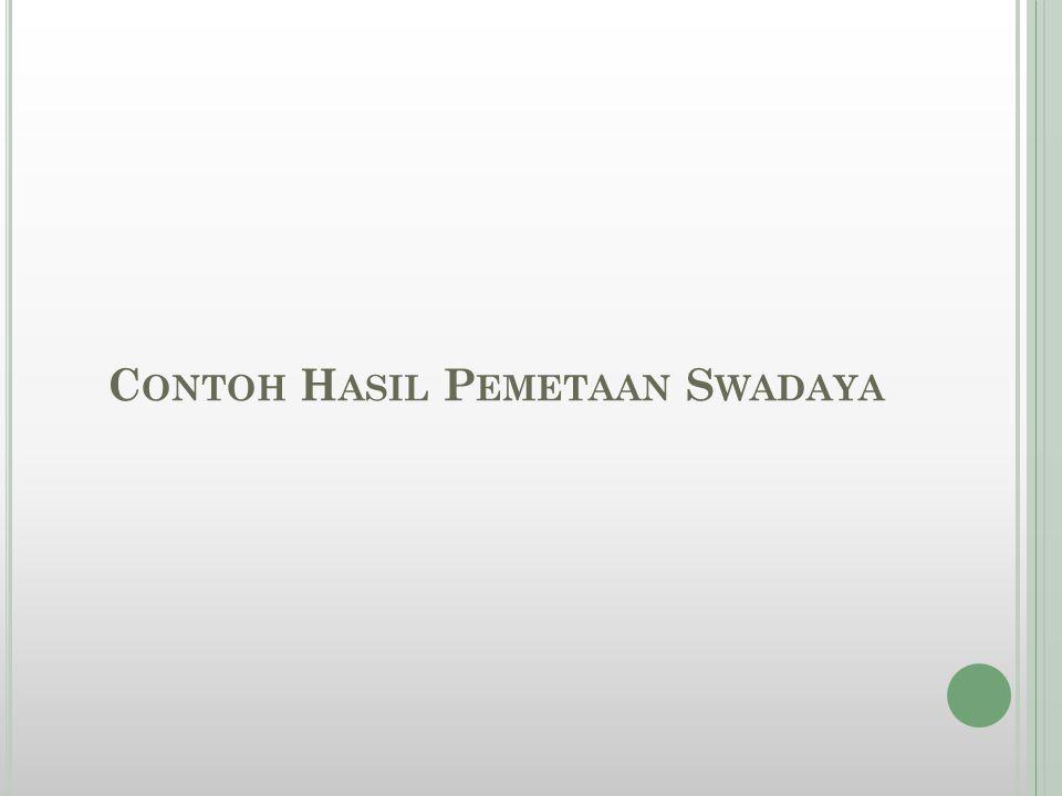 Contoh Hasil Pemetaan Swadaya