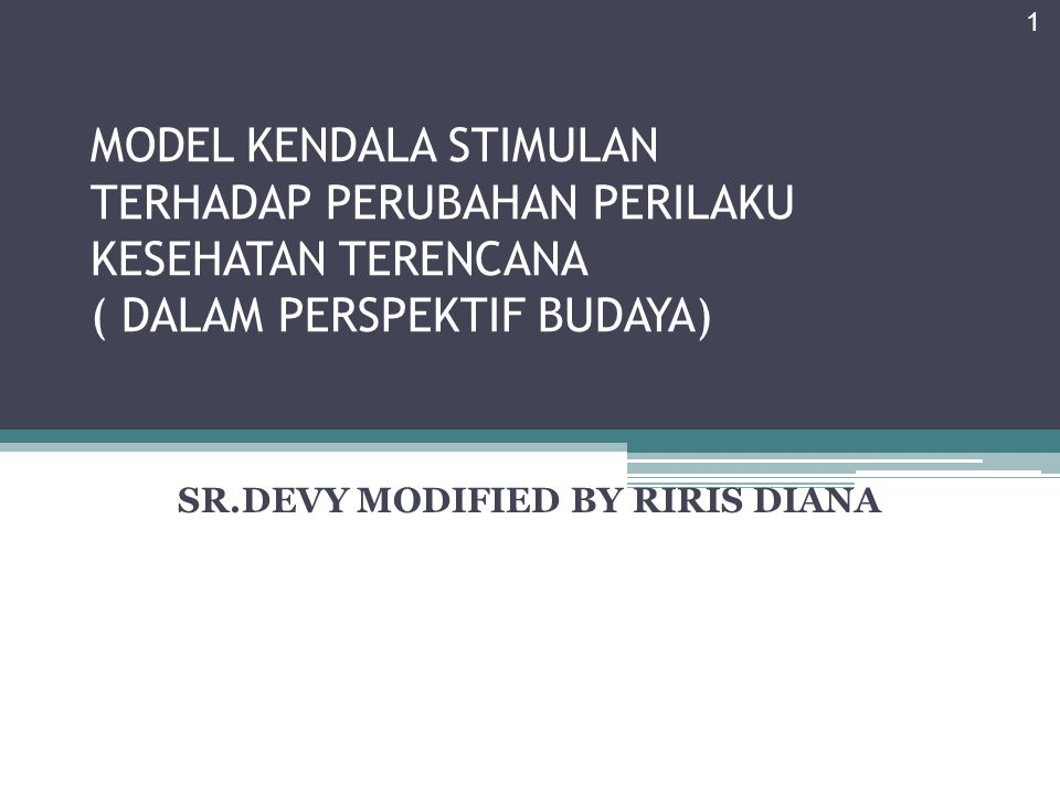SR.DEVY MODIFIED BY RIRIS DIANA