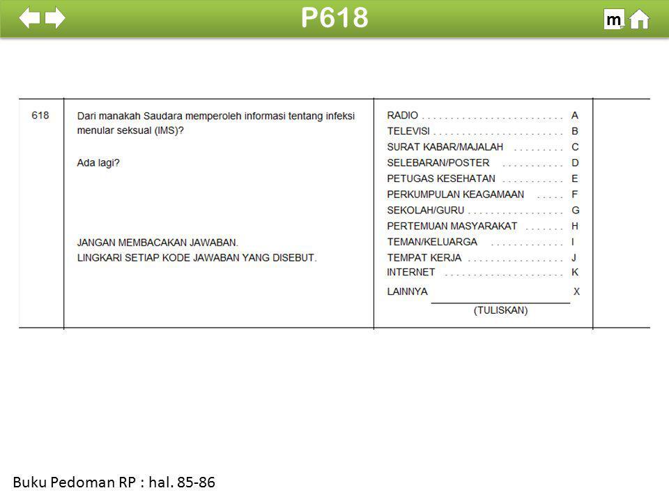 P618 m SDKI 2012 100% Buku Pedoman RP : hal. 85-86