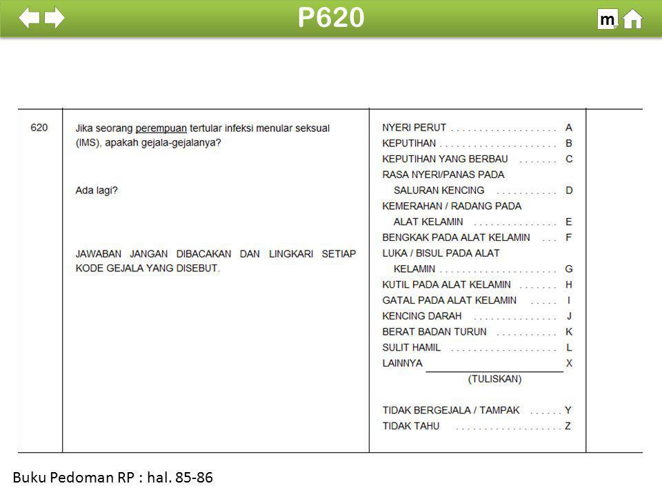 P620 m SDKI 2012 100% Buku Pedoman RP : hal. 85-86