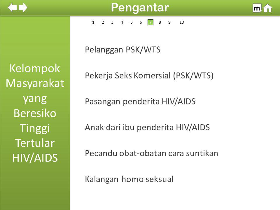 Kelompok Masyarakat yang Beresiko Tinggi Tertular HIV/AIDS