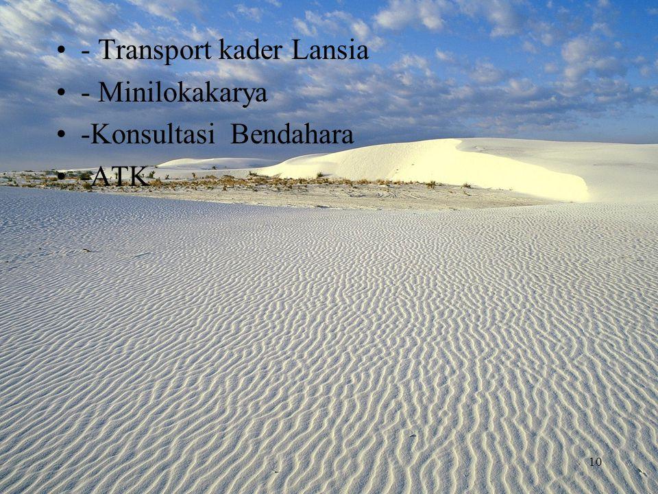 - Transport kader Lansia