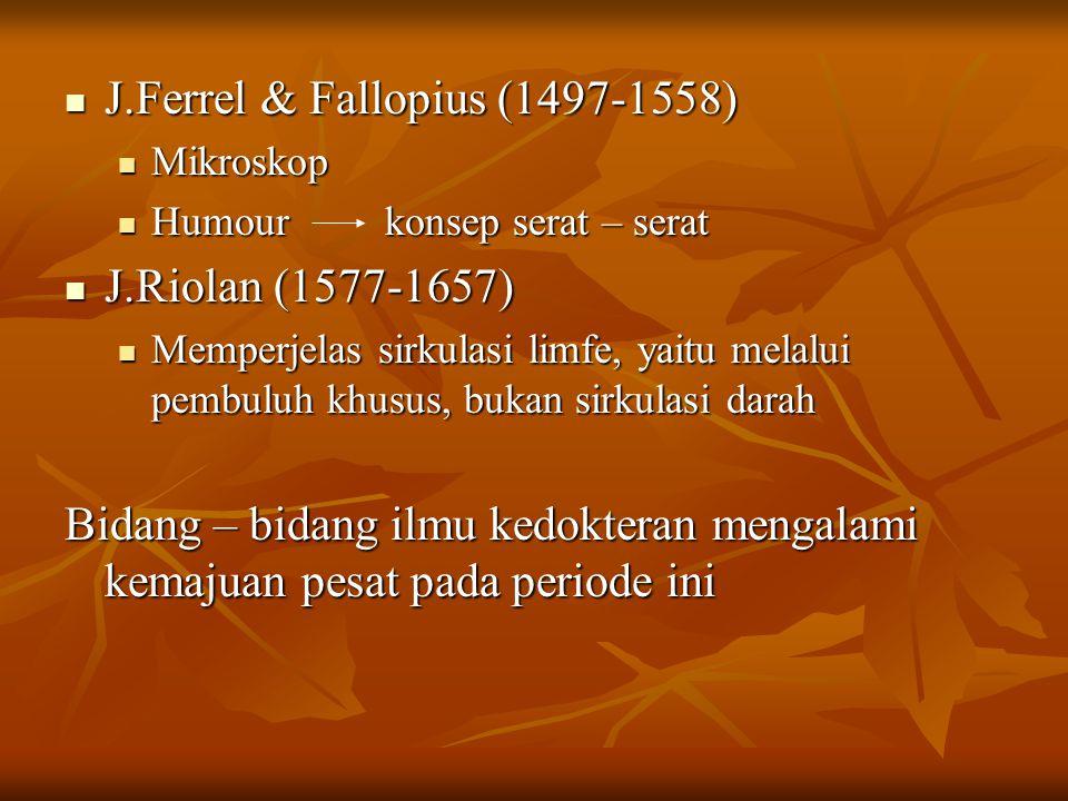 J.Ferrel & Fallopius (1497-1558)