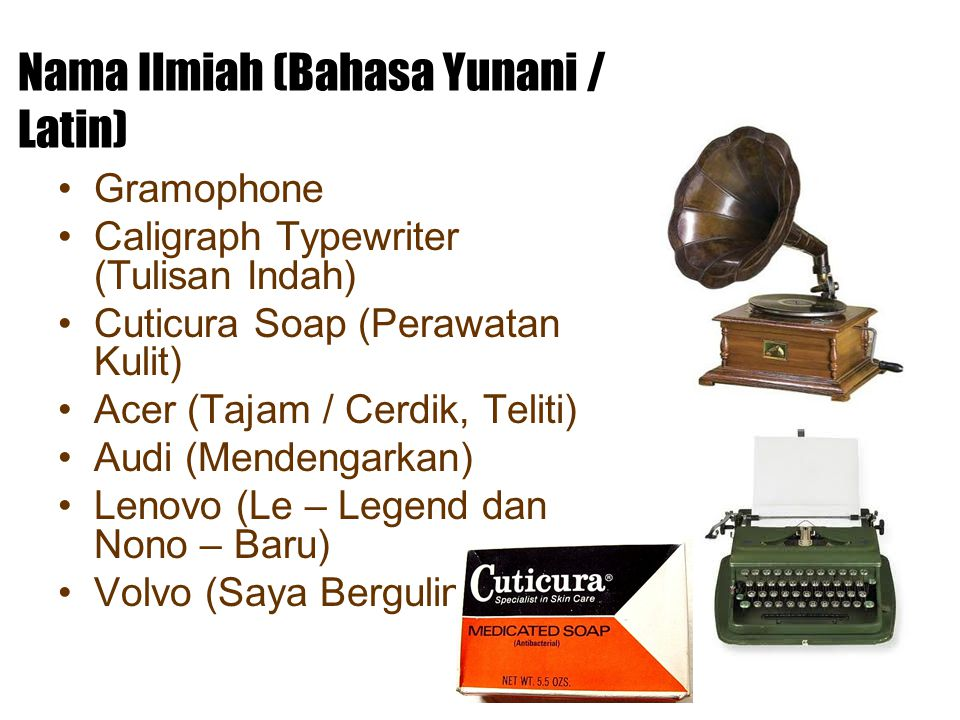 Nama Ilmiah (Bahasa Yunani / Latin)