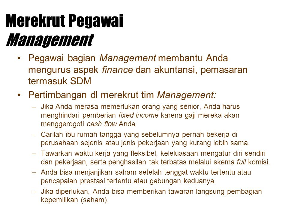 Merekrut Pegawai Management
