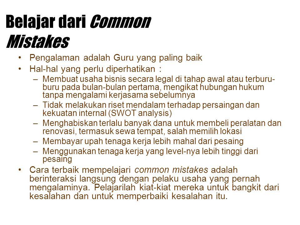 Belajar dari Common Mistakes
