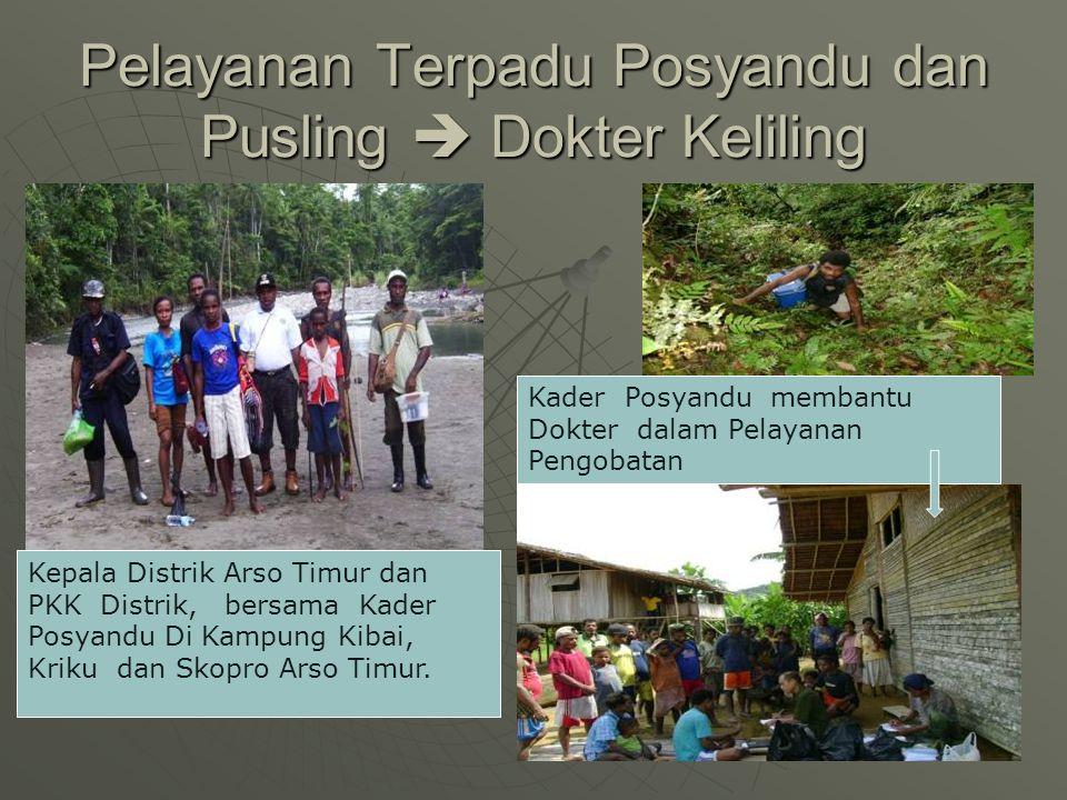 Pelayanan Terpadu Posyandu dan Pusling  Dokter Keliling