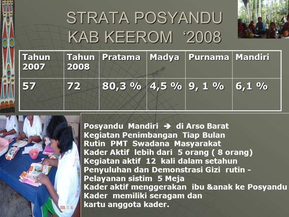 STRATA POSYANDU KAB KEEROM '2008