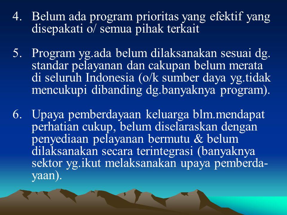Belum ada program prioritas yang efektif yang