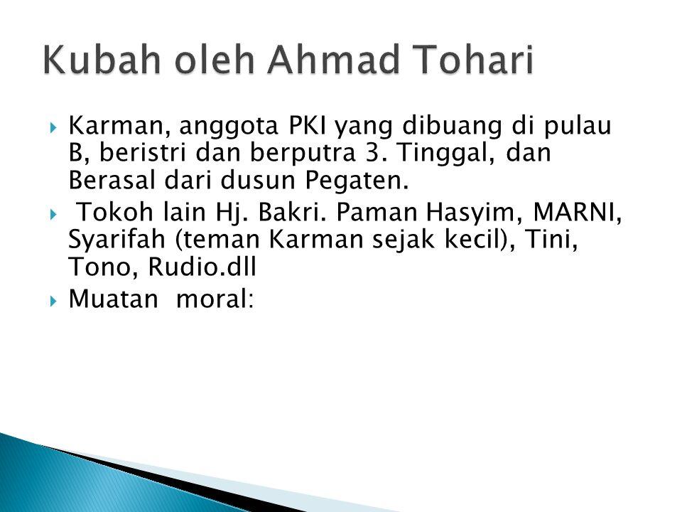 Kubah oleh Ahmad Tohari