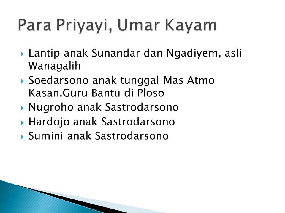 Para Priyayi, Umar Kayam