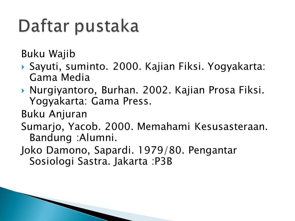Daftar pustaka Buku Wajib