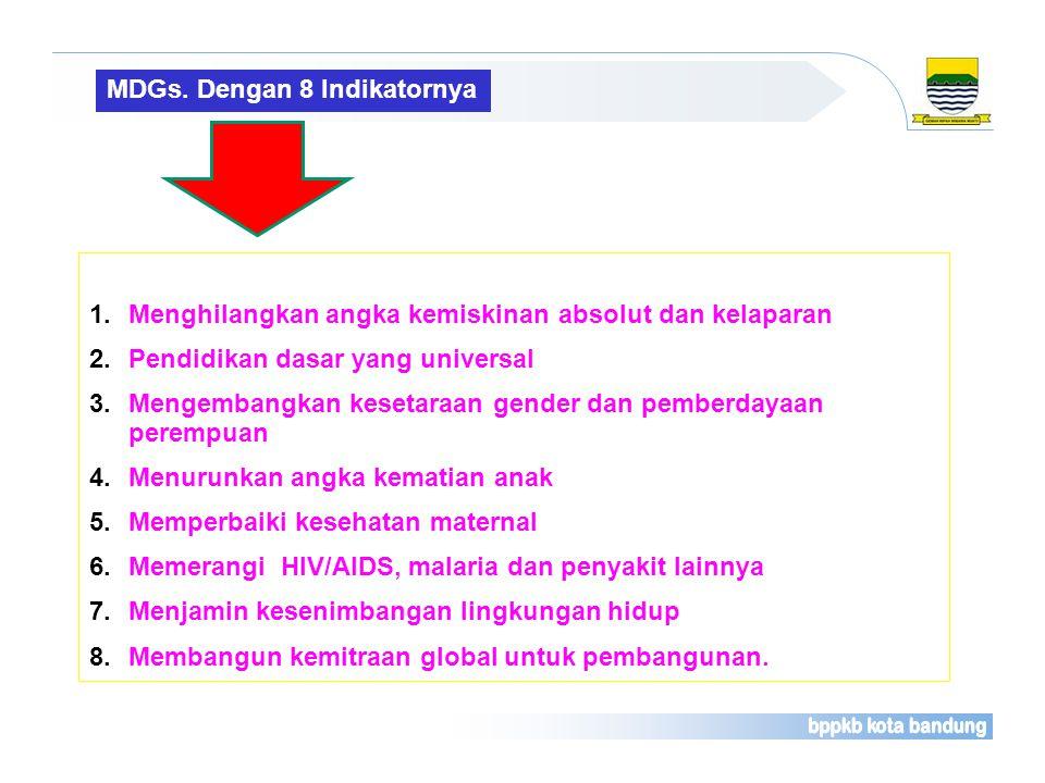 MDGs. Dengan 8 Indikatornya