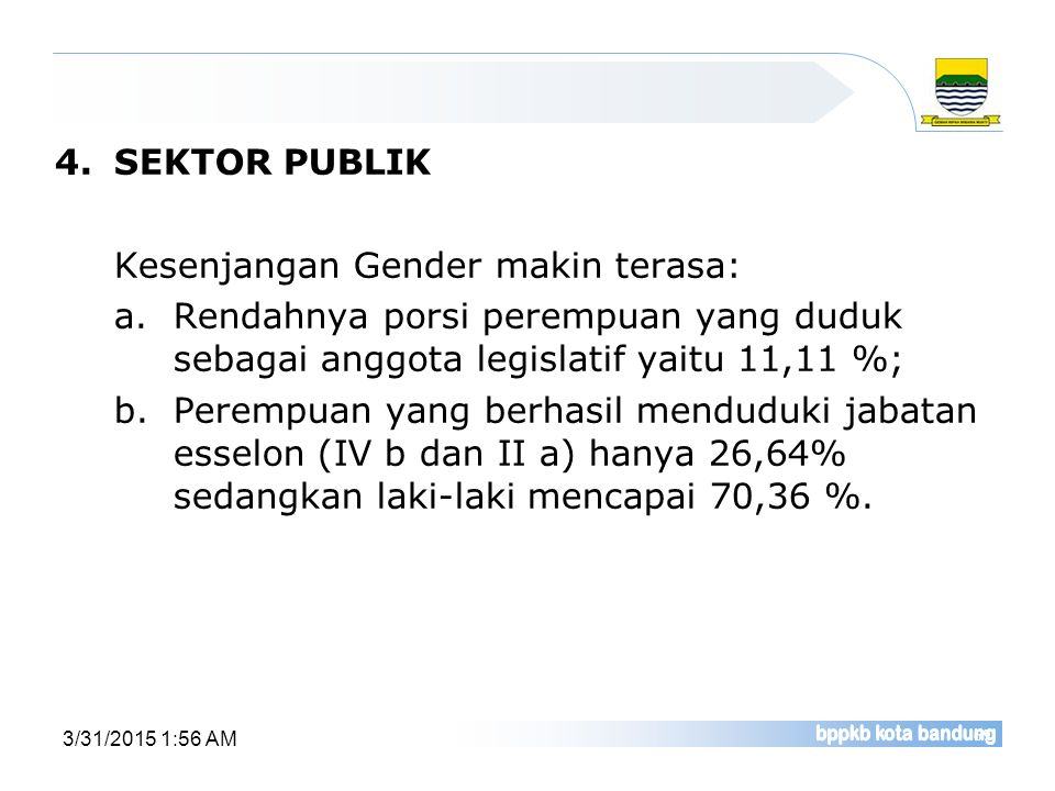 Kesenjangan Gender makin terasa:
