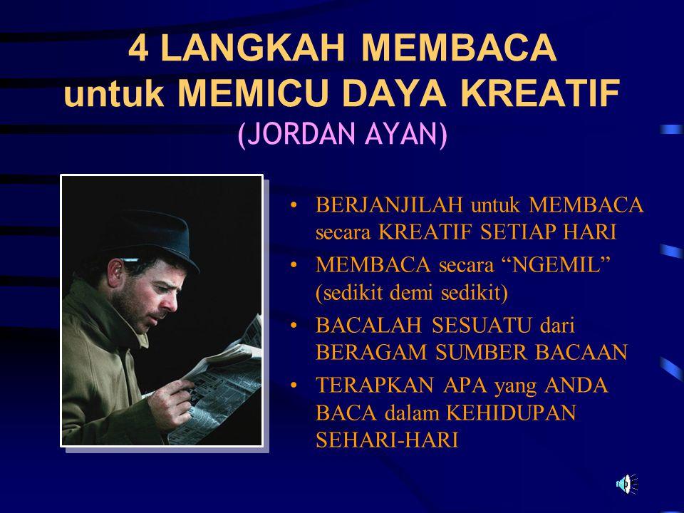 4 LANGKAH MEMBACA untuk MEMICU DAYA KREATIF (JORDAN AYAN)
