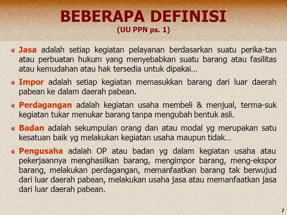 BEBERAPA DEFINISI (UU PPN ps. 1)