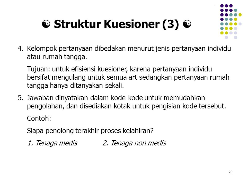  Struktur Kuesioner (3) 
