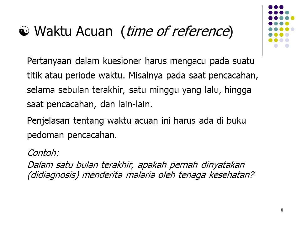  Waktu Acuan (time of reference)