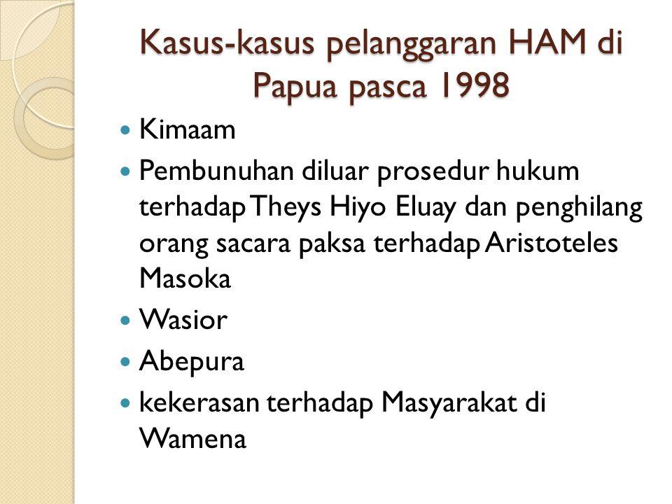 Kasus-kasus pelanggaran HAM di Papua pasca 1998