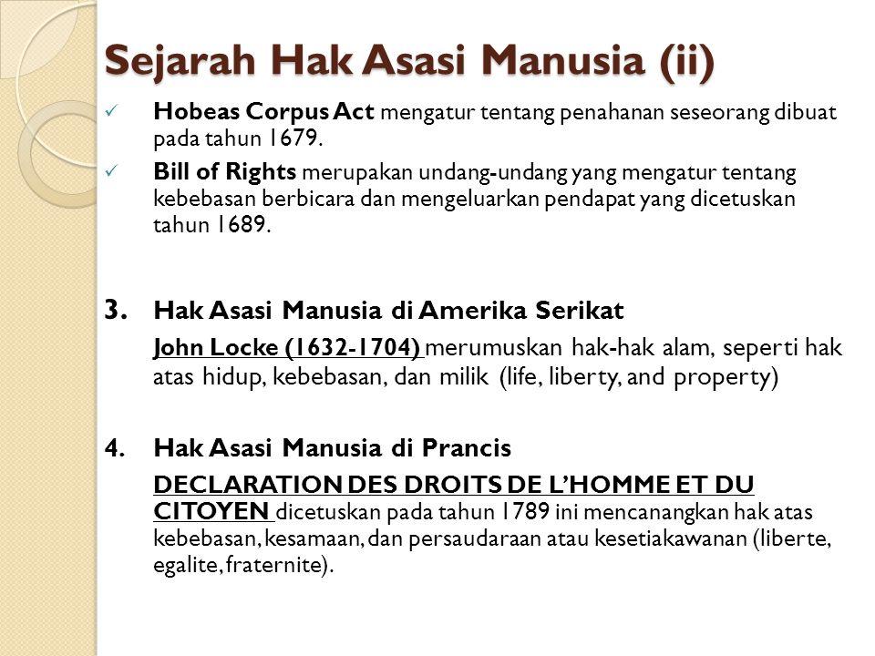 Sejarah Hak Asasi Manusia (ii)
