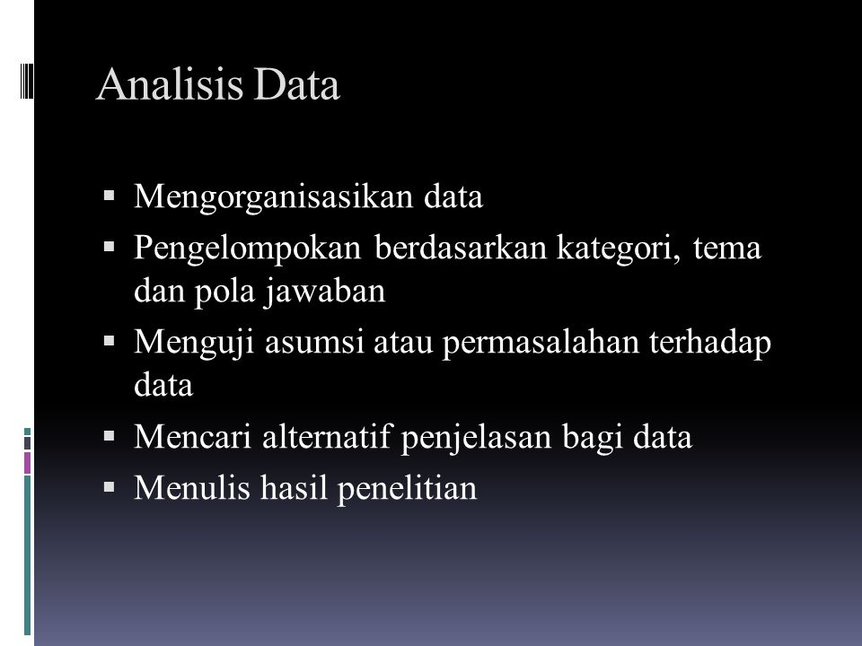 Analisis Data Mengorganisasikan data