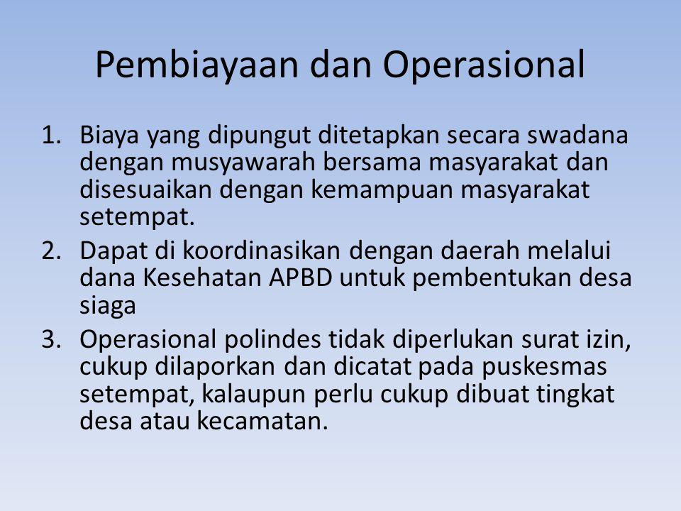 Pembiayaan dan Operasional