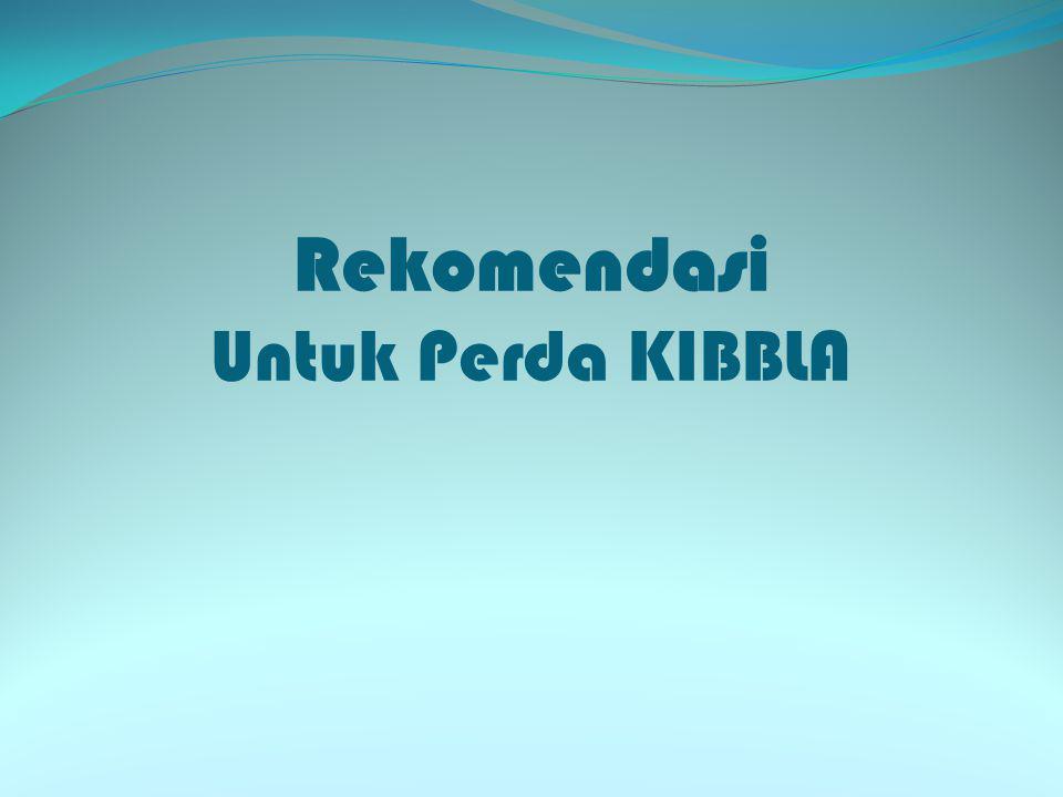 Rekomendasi Untuk Perda KIBBLA