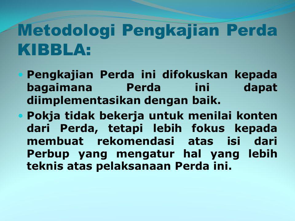 Metodologi Pengkajian Perda KIBBLA:
