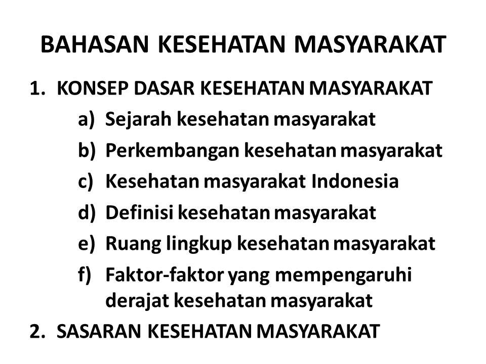 BAHASAN KESEHATAN MASYARAKAT
