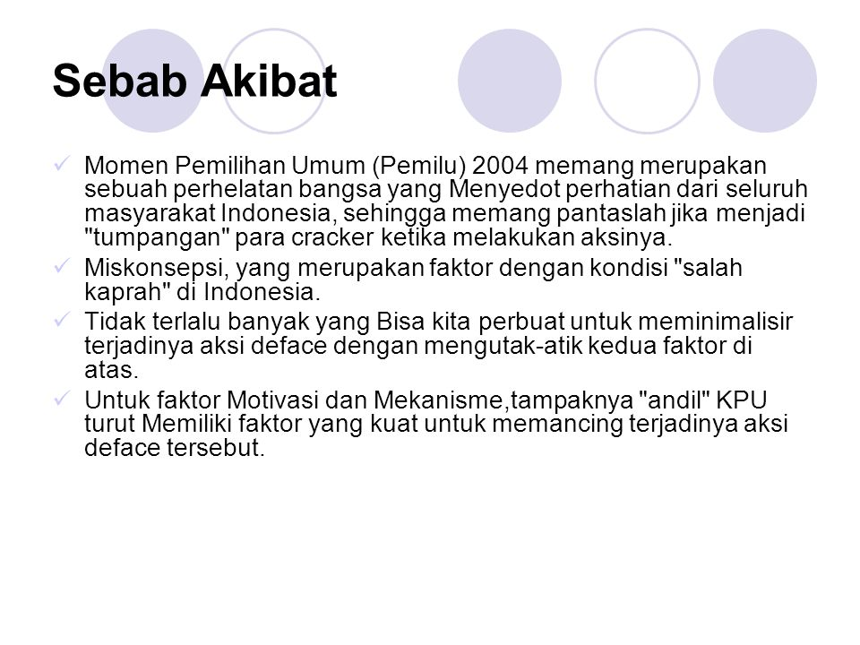 Sebab Akibat