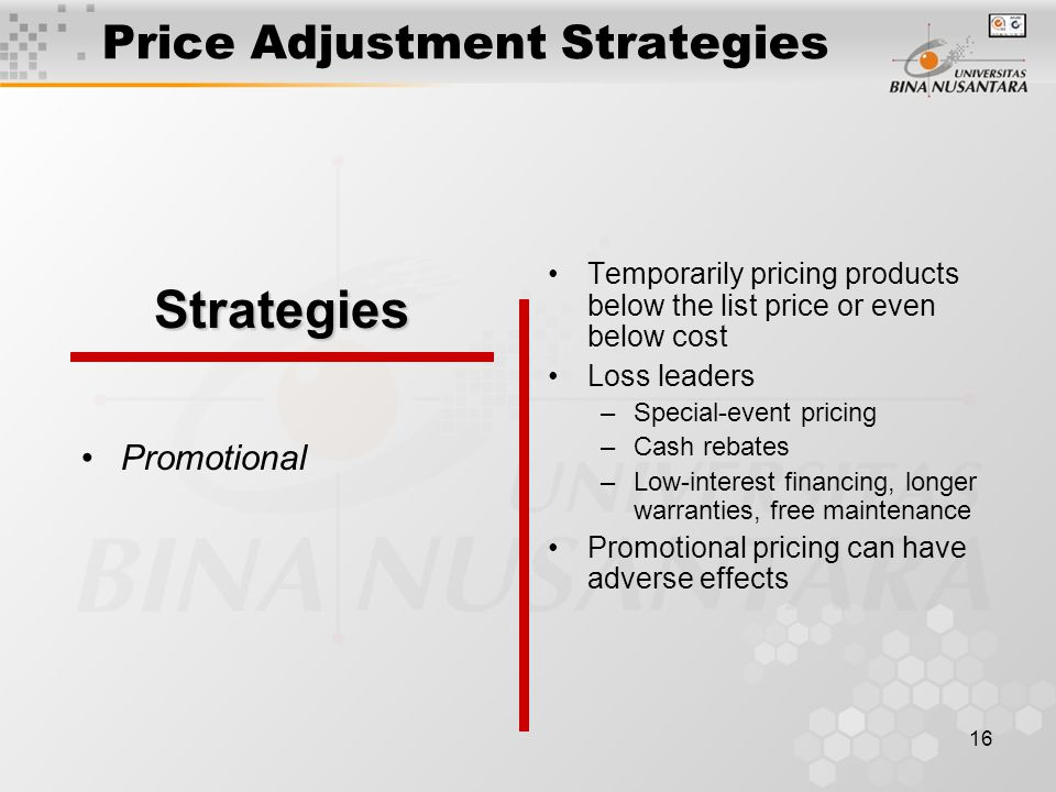 Price Adjustment Strategies