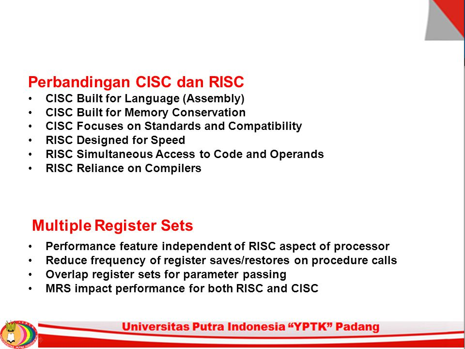 Perbandingan CISC dan RISC