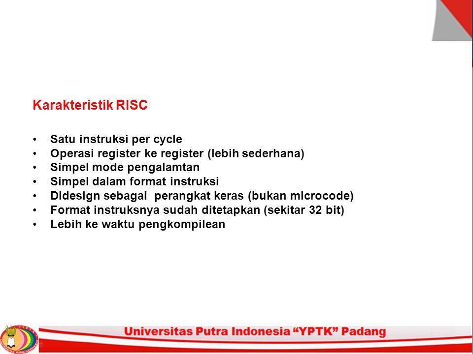 Karakteristik RISC Satu instruksi per cycle