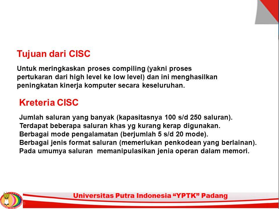 Tujuan dari CISC Kreteria CISC