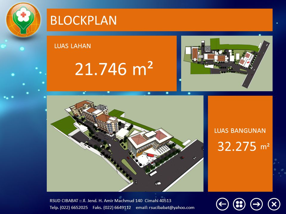 BLOCKPLAN LUAS LAHAN 21.746 m² LUAS BANGUNAN 32.275 m²