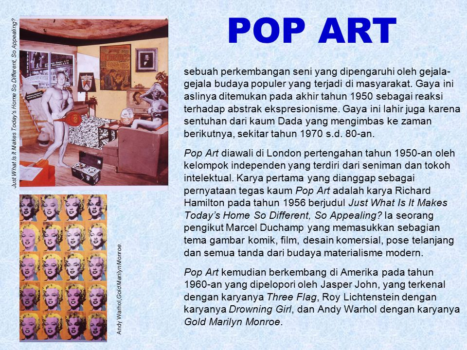 POP ART Just What Is It Makes Today's Home So Different, So Appealing