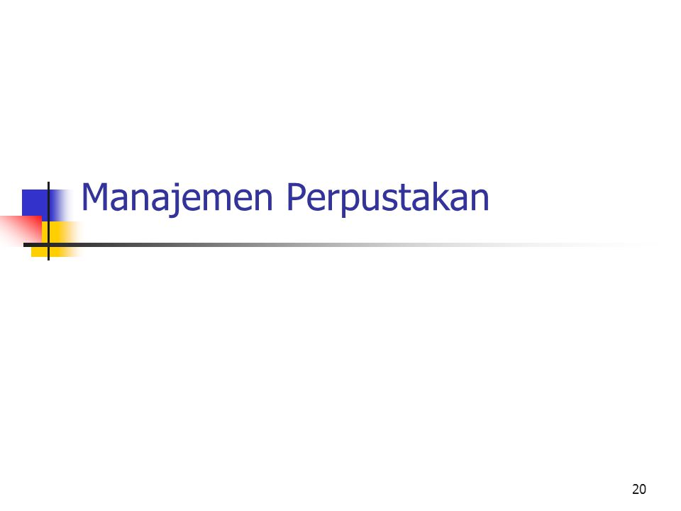 Manajemen Perpustakan